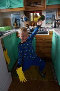 Fargerikt kjøkken på Soltun